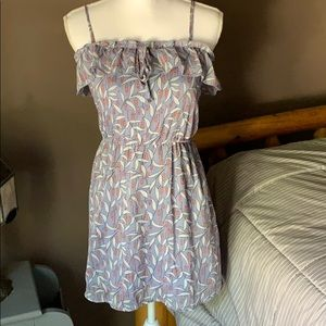 Sundress with ruffle top